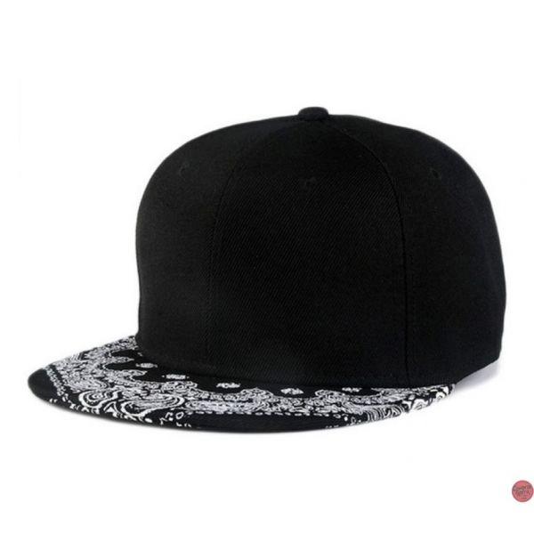 2ca18268e399 Gorra plana Tattoo Style con estampado de Detalle Gorra de color Negro