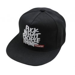 Gorra plana estilo Informal F.CK WHAT PEOPLE THINK Visera...