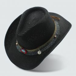 Sombrero vaquero Paja Moda Mujer con Correa hecha a mano