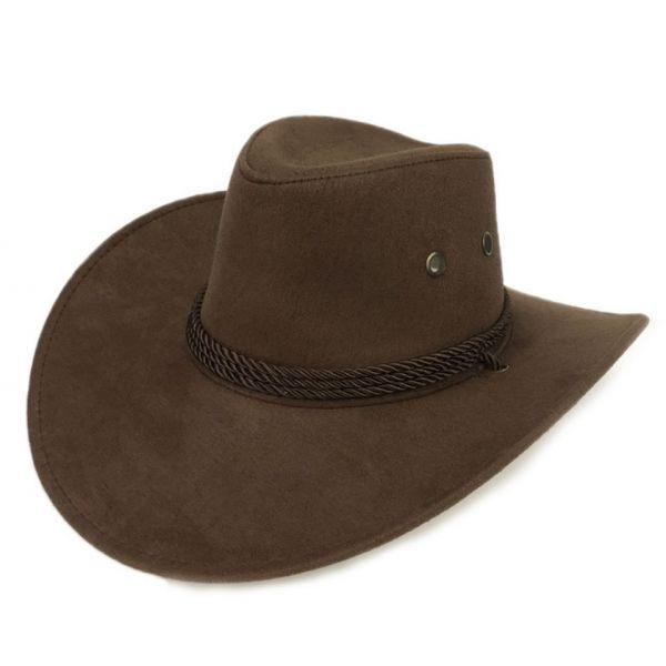 ad5af58d54d26 🧢 Sombrero de Vaquero para Hombre y Mujer Cowboy Cuero con cuerda