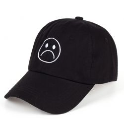 Gorra Sad Boy TRAP Sad Face Grabado Algodón Moda Trapera
