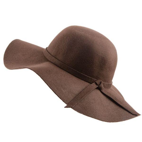 Sombrero de mujer Ala Ancha con cinta...