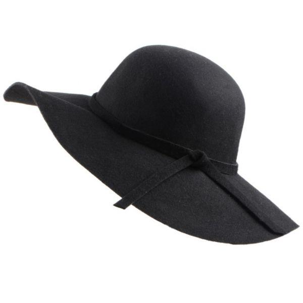 ad566ab67053c 🧢 Sombrero de mujer Ala Ancha con cinta 100% Lana Gran Calidad y Suave