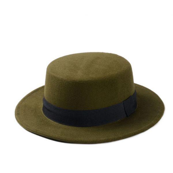 e42a3e4cbd40 Sombrero para Mujer de Fieltro 9 colores con ala Ancha con Cinta