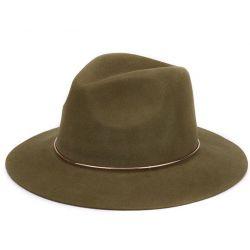 Sombrero de Mujer 100% Lana con aro metálico Estilo elegante...