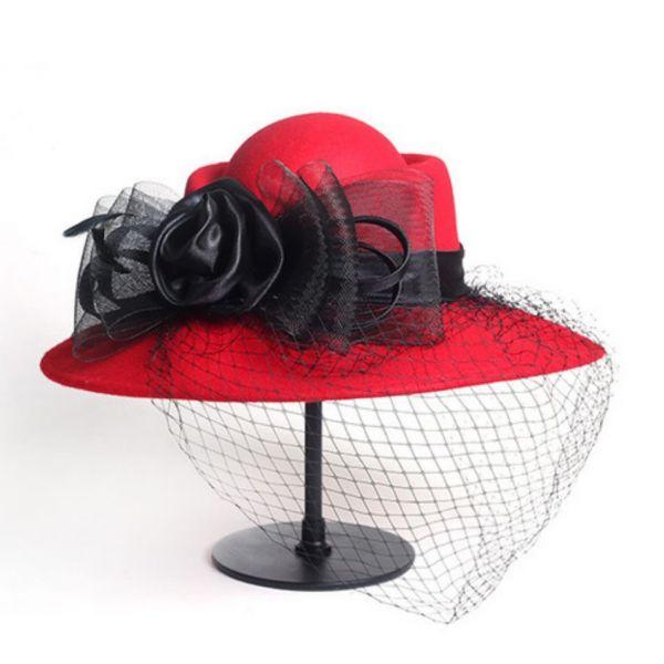 Sombrero mujer con Velo Red Malla...