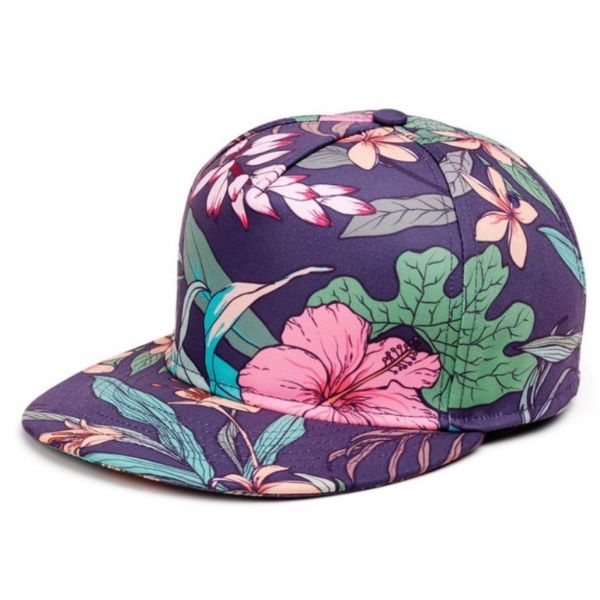 3cbd90d85279 Gorra con estampado de Flores 3D para verano Suave Algodón y Acrílico