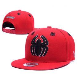 Gorra de Spiderman Avengers Visera plana Roja Araña algodón