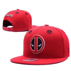 Gorra Death Pool de color Rojo Online Visera Plana Gorra Marvel