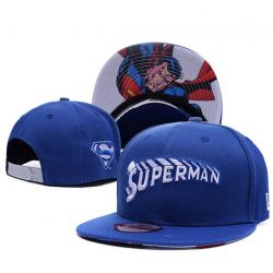 Gorra de Superman Retro color Azul Algodón Visera Plana...