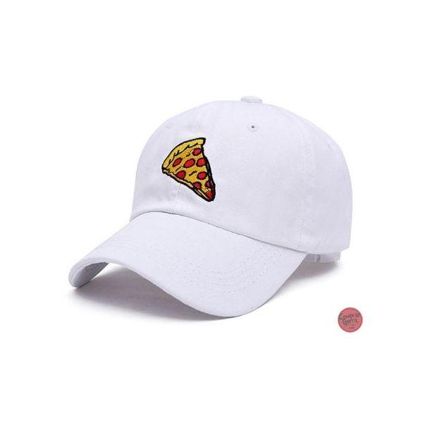 Gorra con visera curvada 3D Pizza en...