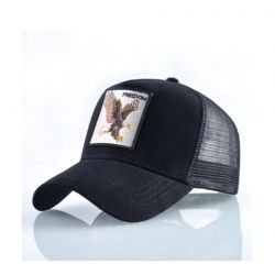 Moda animal Gorra con Águila Visera Curvada Transpirable...
