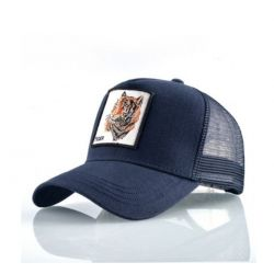 Gorra con visera Curvada Transpirable Bordado Animal Tigre