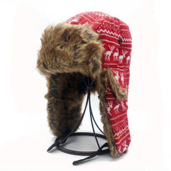 Gorro Invierno estilo Ruso con Renos...