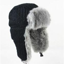 Gorro de invierno Lana Protector Oído estilo Aviador Ruso