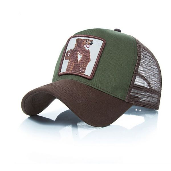 Gorra bordado Animal Oso Bear Verde y...