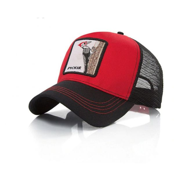 Gorra animal Pajaro Carpintero Roja y...