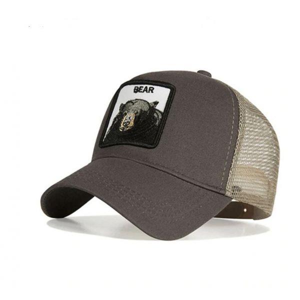 Gorra animal Oso negro Bear moda...
