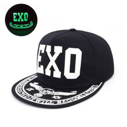 Gorra Fluorescente Luminosa EXO Brillo en la Oscuridad