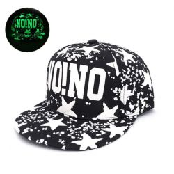Gorra Hip Hop NO!NO Fluorescente Visera Plana Luminosa Oscuridad