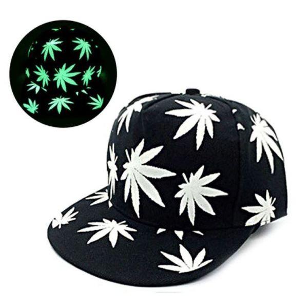 Gorra Luminosa Cannabis Visera Plana...