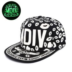 Gorra MDIV Estampado Luminoso Brillo en Oscuridad Calavera