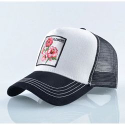 Flower Gorra de Moda estilo Animal Transpirable Original Floral