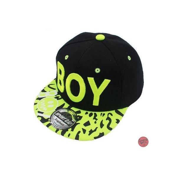 594ded90178a6 🧢 Gorra visera Plana Niños 3-8 Años Bordado BOY frase Gorra Hip Hop  Snapback
