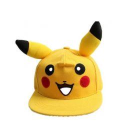 Gorra visera Plana Pikachu con orejas Pokemon Unisex Anime...