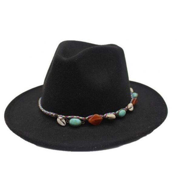 Sombrero de Fieltro Safiro y Conchas...