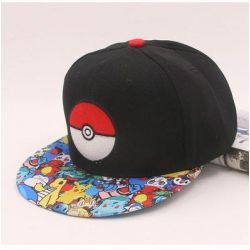 Gorra con Pokemon Pokeball Plana