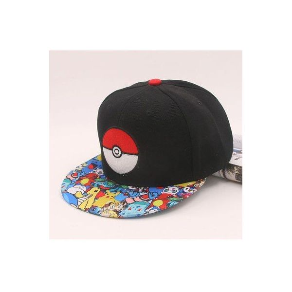 Gorra con Pokemon Pokeball Plana