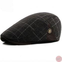 Gorra de Estilo Cuadros Boina Online Para hombres elegantes...