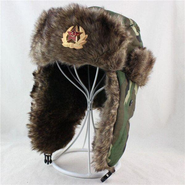 Estilo RUSO Gorro Caliente Militar...