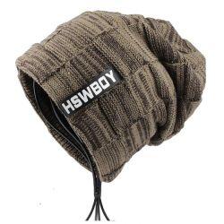 270bdf570fd 🧢 Gorro de invierno para hombres Etiqueta HSWBOY Moda hombre 2019