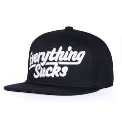 Everything Sucks Gorra Plana Unisex Moda Snapback 3 Colores...