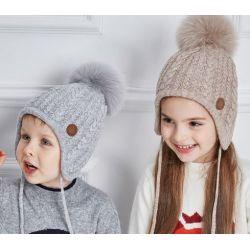 Gorro calentito de niña y niño 2-8 años Invierno con Pon Pon
