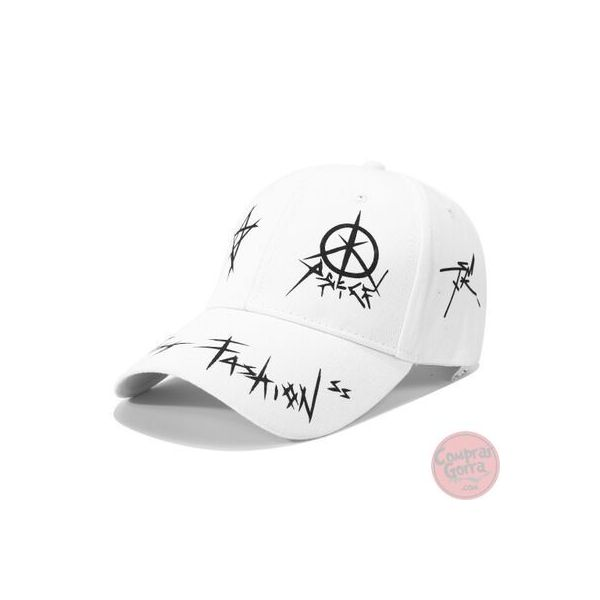 Gorra Fashion Blanco y Negro...
