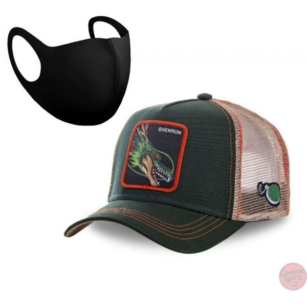 Gorra Shenron Dragon Ball + Mascarilla