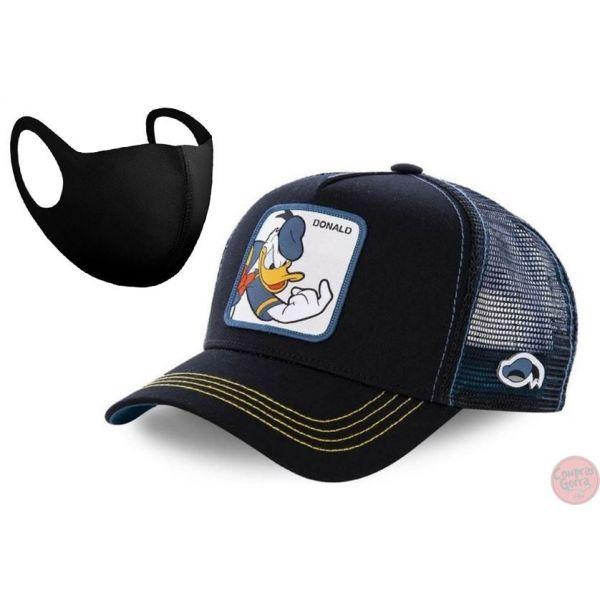Gorra Donald el Pato Duck + Mascarilla