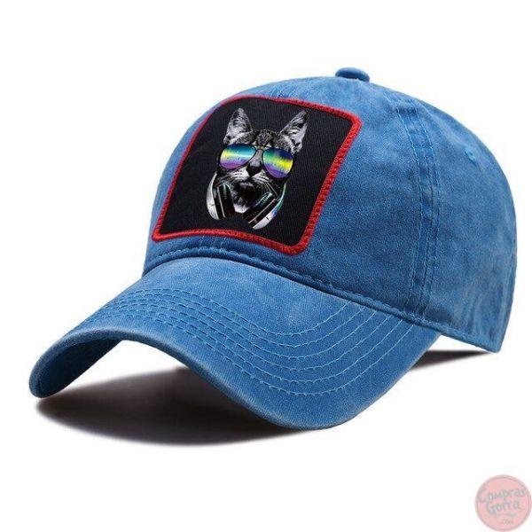 Gorra Gato Genial con Gafas Cool Tapa...