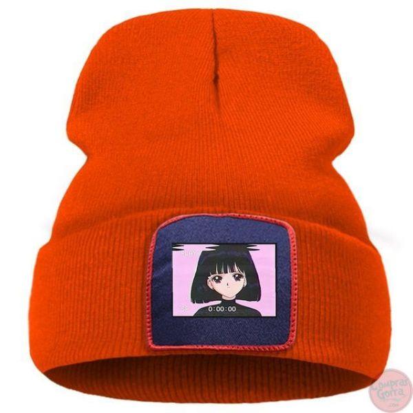 Gorro Chica Anime Fondo Rosa Estilo...
