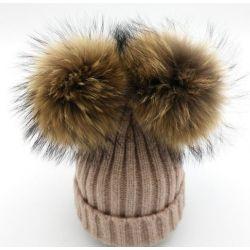 Gorro de invierno Para Mujer Con Pon Pon de pelito suave...