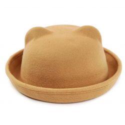 Sombrero con Orejas de Gato eventos Jazz o Bolos tacto suave