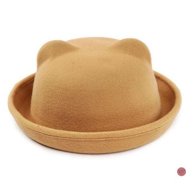 aac3e79cd5c2a 🧢 Sombrero con Orejas de Gato eventos Jazz o Bolos tacto suave