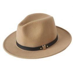 Sombrero de ala ancha para hombre Elegante Lana suave con...