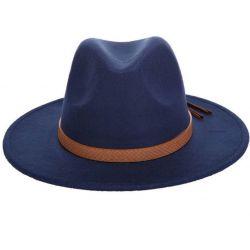 Sombrero con ala Ancha para Hombre con Cinta Piel de...