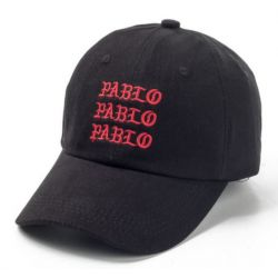Gorra Ghotic Pablo grabado el Nombre 3 veces Para Hombres