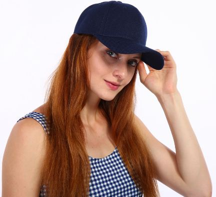 gorra simple mujer