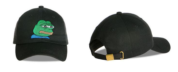 comprar gorra meme rana negro